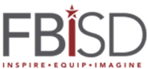"Fort Bend Independent School District - Current FBISD logo with tagline ""INSPIRE-EQUIP-IMAGINE"""