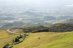 Ribeira Grande, Azores - A view of the interior plateau of Ribeira Grande, showing the volcanic spatter cones