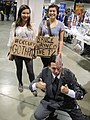 Long Beach Comic & Horror Con 2011 - Occupy Gotham protesters with Two-Face (6301708062).jpg