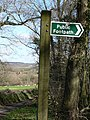 Looking past sign towards Grealy Quarry (disused) - geograph.org.uk - 722980.jpg