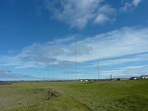 Longwave radio mast Hellissandur - View of the Hellissandur masts