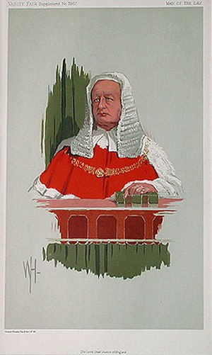 Richard Webster, 1st Viscount Alverstone - Alverstone caricatured by WH for Vanity Fair, 1913