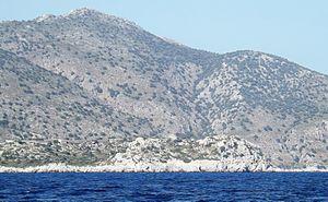 Loryma - Image: Loryma Citadel from the sea 6 Jun 2013