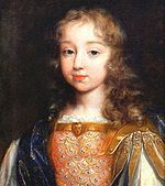 Louis XIV as a young child