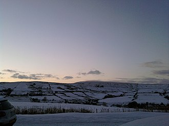 Loveclough - Loveclough to the west during January 2011, showing its role as a beauty location