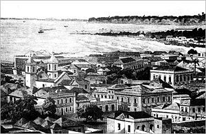 Luanda - The centre of Luanda in 1883.