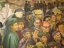 Particolare di Lucania 61, Telero di Carlo Levi, Matera, Palazzo Lanfranchi, Museo nazionale d'arte medievale e moderna della Basilicata