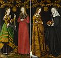Lucas Cranach d.Ä. - Reverses of Shutters of the St Catherine Altarpiece in Dresden.jpg