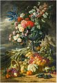 Lucas Victor Schaefels - Vase with flowers and autumn fruit.jpg