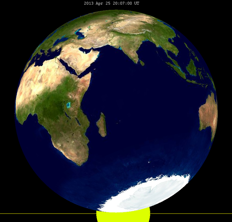Lunar eclipse from moon-2013Apr25.png