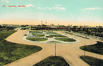 Rizal Park - The Paseo de Luneta in 1899