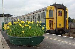 Lymington Pier railway station MMB 04 421497.jpg