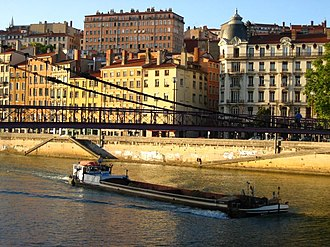 4th arrondissement of Lyon - The Maison Brunet, viewed from the Saône