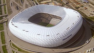 football stadium in the north of Munich, Bavaria, Germany