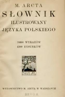 M Arcta Słownik Ilustrowany Języka Polskiegotom Iicałość