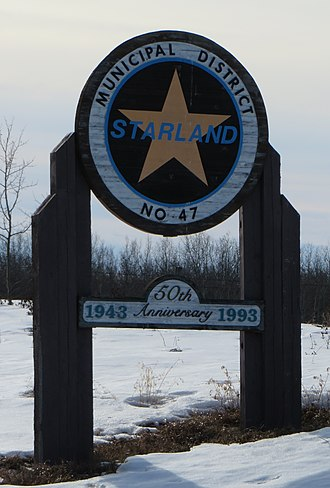 Starland County - Boundary sign