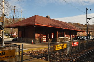 Miquon, Pennsylvania - Image: MIQUON STATION IN THE UPPER ROXBOROUGH HISTORIC DISTRICT; MONTGOMERY CTY