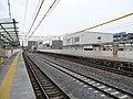 MT-Ajiyoshi Station-Platform (temporary) 2.jpg