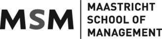Maastricht School of Management - Image: Maastricht School of Management logo black