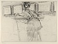 Madame Helleu Looking at the Watteau Drawings in the Louvre MET DP841025.jpg