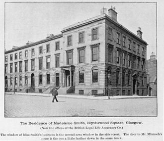 Madeleine Smith - The building where Smith and her fiancé Minnoch each had apartments.