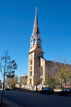 Roman Catholic Diocese of Madison - St. Raphael's Cathedral, Madison prior to the 2005 fire.