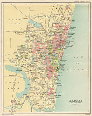 History of Chennai - The city of Madras in 1909