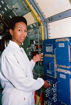 Mae Jemison - Jemison at the Kennedy Space Center in January 1992.