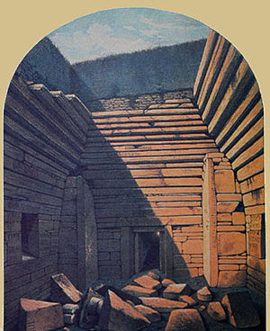 Maeshowe - Maeshowe soon after opening in 1861