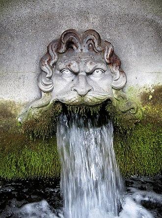Maglekilde - Maglekilde springs from the mouth of Neptune.