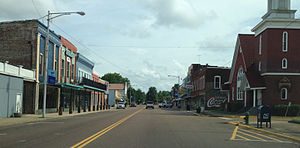 Water Valley, Mississippi - Main Street in Water Valley is listed on the National Register of Historic Places