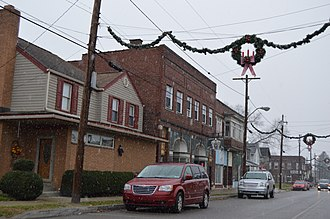 Wampum, Pennsylvania - Businesses on Main Street