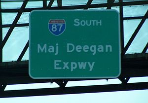 Major Deegan Expressway - Overhead signage for the expressway