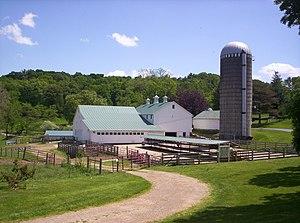 Malabar Farm State Park - The Main Dairy Barn and Petting Farm.