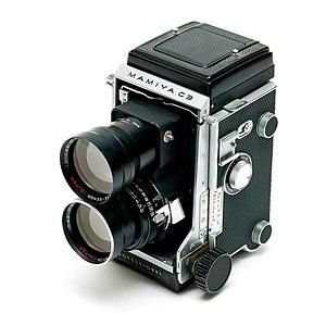 Mamiya - A Mamiya C3 twin lens reflex, from 1962.