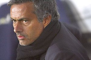 Football : Manager Jose Mourinho of Inter duri...