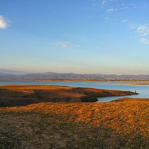 Mangla Dam - Picture taken on the Mirpur city side of Lake, near sunset.
