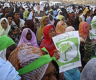 2008 Mauritanian coup d'état - FNDD demonstration in Noaudibu August 20.