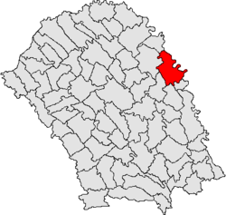 Location of Manoleasa, Botoşani