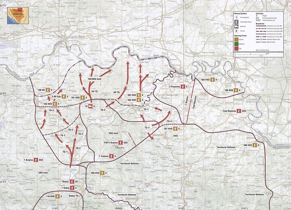 File:Map 10 - Bosnia - Posavina Corridor - June-July 1992.jpg ...