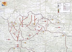 Operation Corridor 92 - Map of Operation Corridor 92