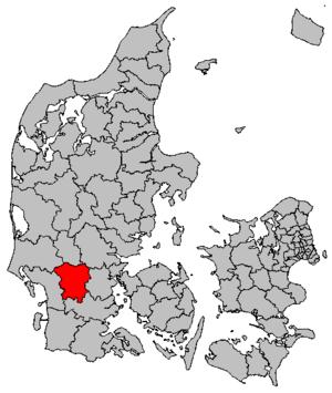 Vejen Municipality - Location of Vejen municipality
