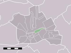 Geestdorp - Image: Map NL Woerden Geestdorp