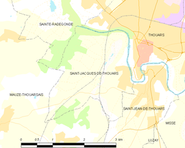 Mapa obce Saint-Jacques-de-Thouars