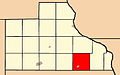 Map highlighting Van Buren Township, Jackson County, Iowa.jpg