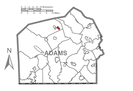 Map of Bendersville Station-Aspers, Adams County, Pennsylvania Highlighted.png