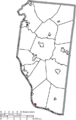 Map of Clermont County Ohio Highlighting Neville Village.png