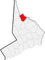 Map of Fairfield County, Connecticut Brookfield Highlighted.PNG