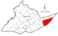 Map of Haines Township, Centre County, Pennsylvania Highlighted.png