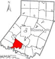 Map of Indiana County, Pennsylvania Highlighting Black Lick Township.PNG